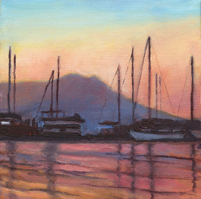 Dusk Over Sausalito III by Terry Lockman