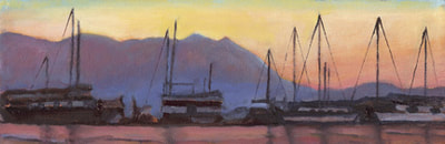 Dusk Over Sausalito IV by Terry Lockman