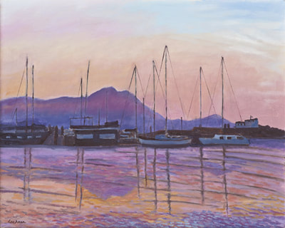 Dusk Over Sausalito by Terry Lockman