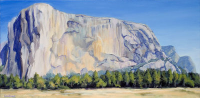 El Capitan from the Meadow by Terry Lockman