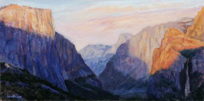 Fall Sunset, Yosemite Valley by Terry Lockman