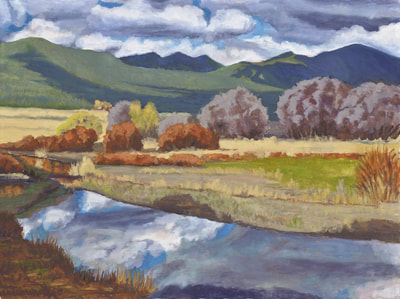 Fall Reflections Hope Valley by Terry Lockman