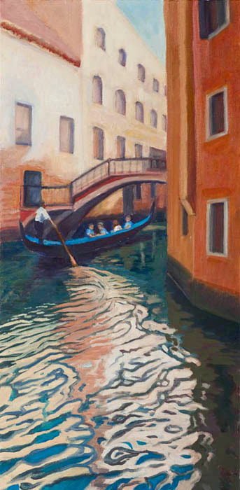 Gondola Ride Venice by Terry Lockman
