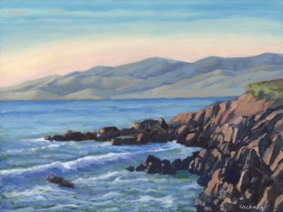 Late Afternoon on the Cambria Coast by Terry Lockman