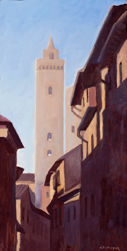 Late Afternoon, San Gimignano by Terry Lockman
