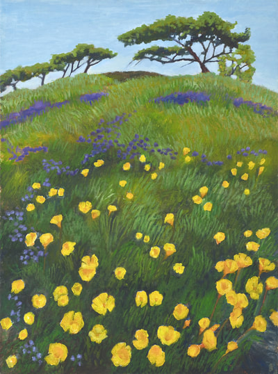 March Poppies by Terry Lockman