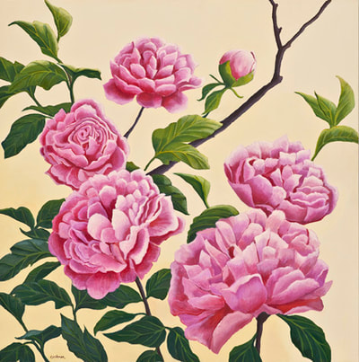 Pink Peonies by Terry Lockman