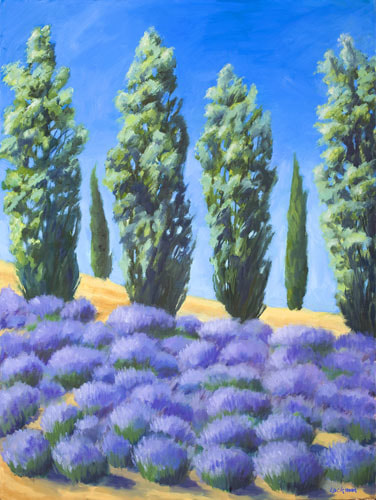 Summer Lavender at Rock Hill Farms by Terry Lockman