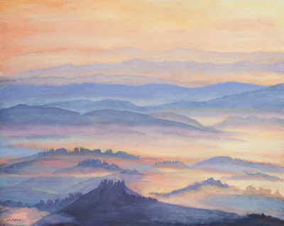 Sunrise over Tuscany by Terry Lockman