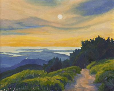 Sunset on Mt. Vision by Terry Lockman