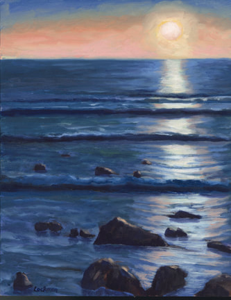 Sunset over Cambria by Terry Lockman
