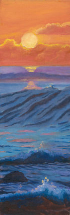 Sunset Waves by Terry Lockman