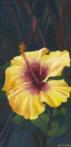 The Glow, Yellow Hibiscus by Terry Lockman