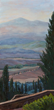 View from Pienza by Terry Lockman