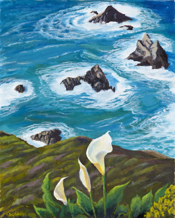 Wild Calas at Pt. Lobos by Terry Lockman