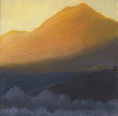 Winter Sunset Mt. Tam II by Terry Lockman